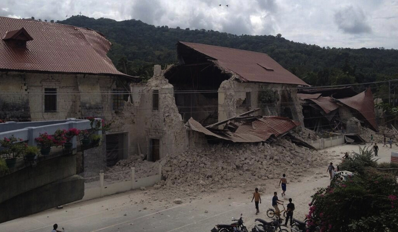 A magnitude-7.2 earthquake struck the central Philippines