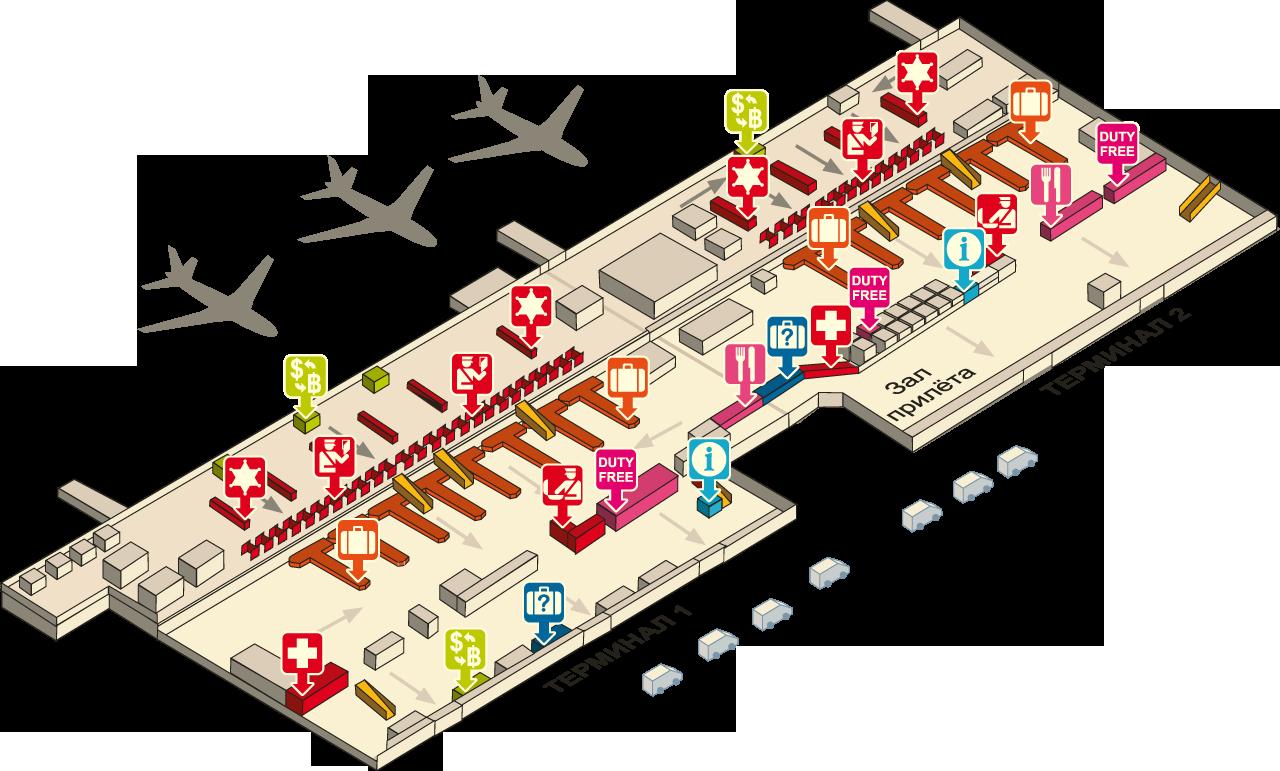 Бангкок аэропорт схема
