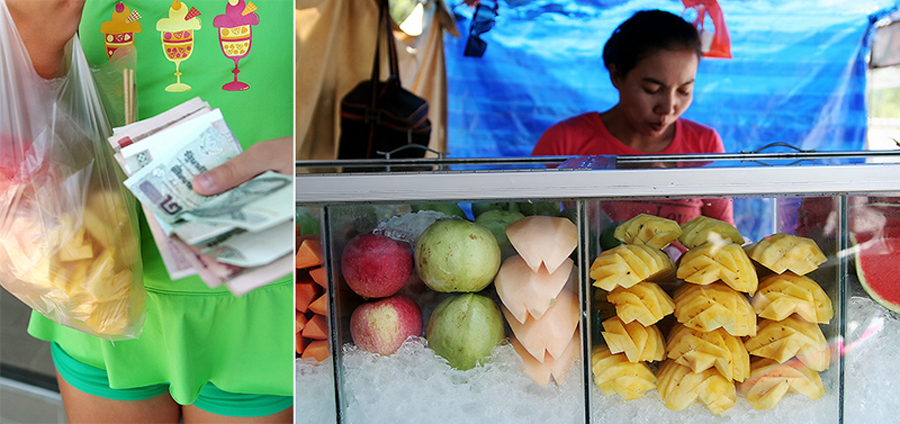 макашница с фруктами