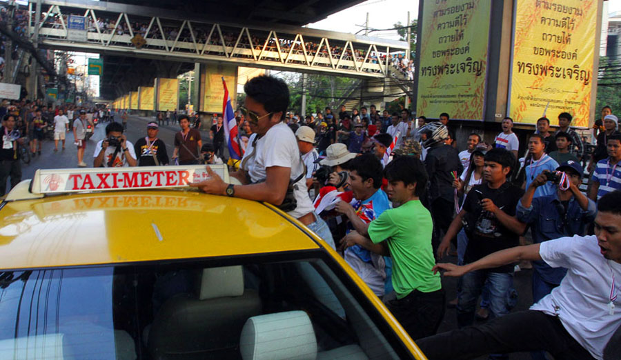 Red Shirt mass rally in Bangkok